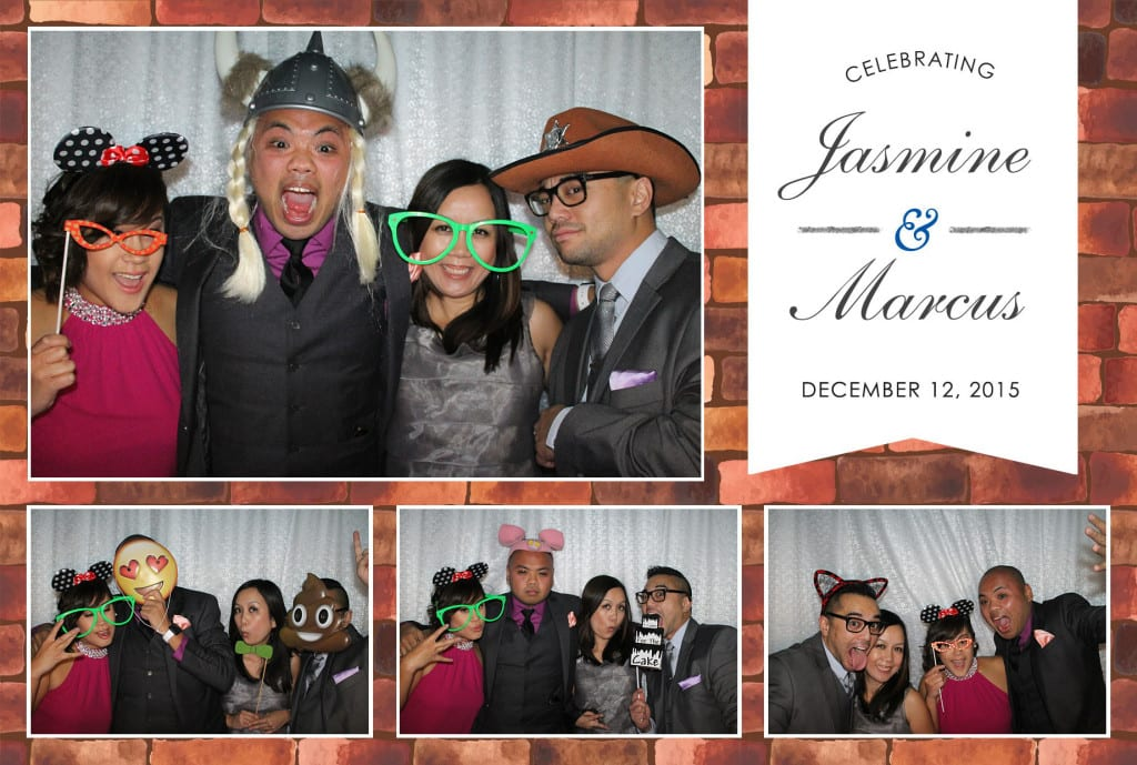Photo booth horizontal layout