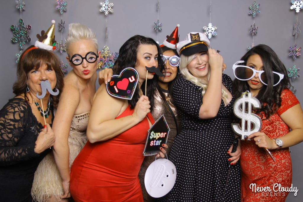 holiday party photo booth with live photographer
