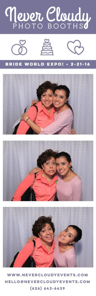 Photo booth mom and daughter