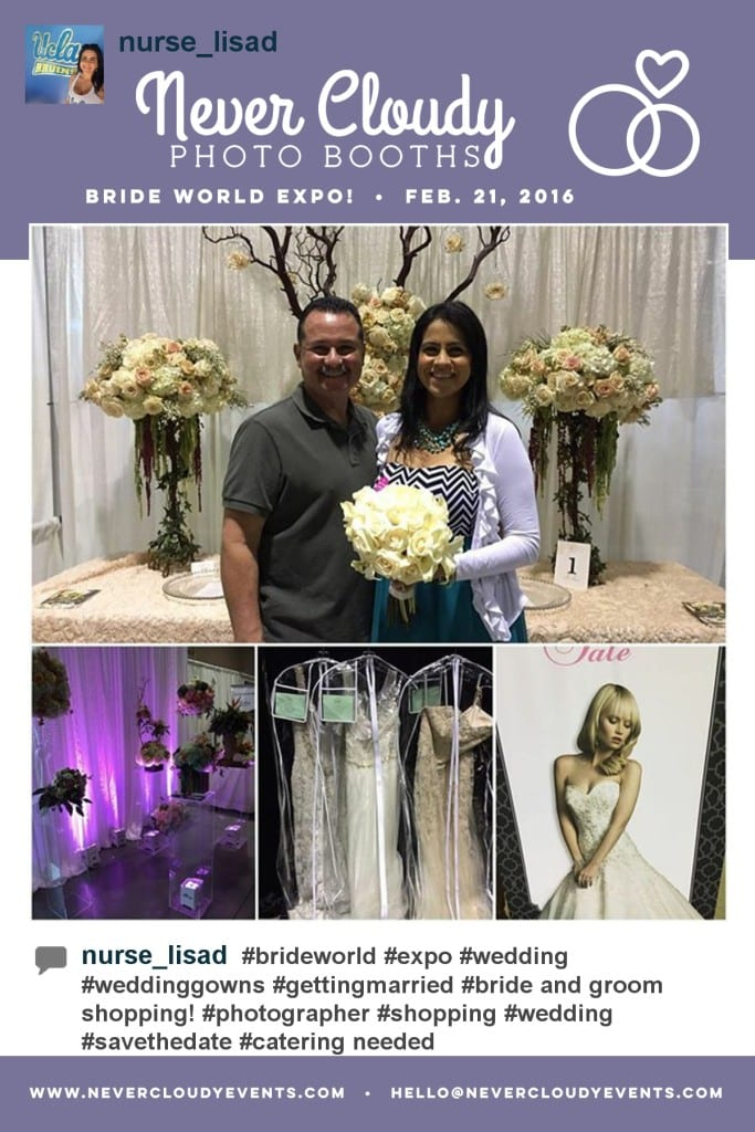 hashtag printing at Bride World Expo