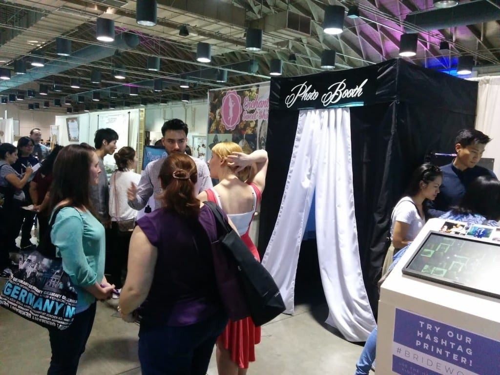 Photo booth at Bride World