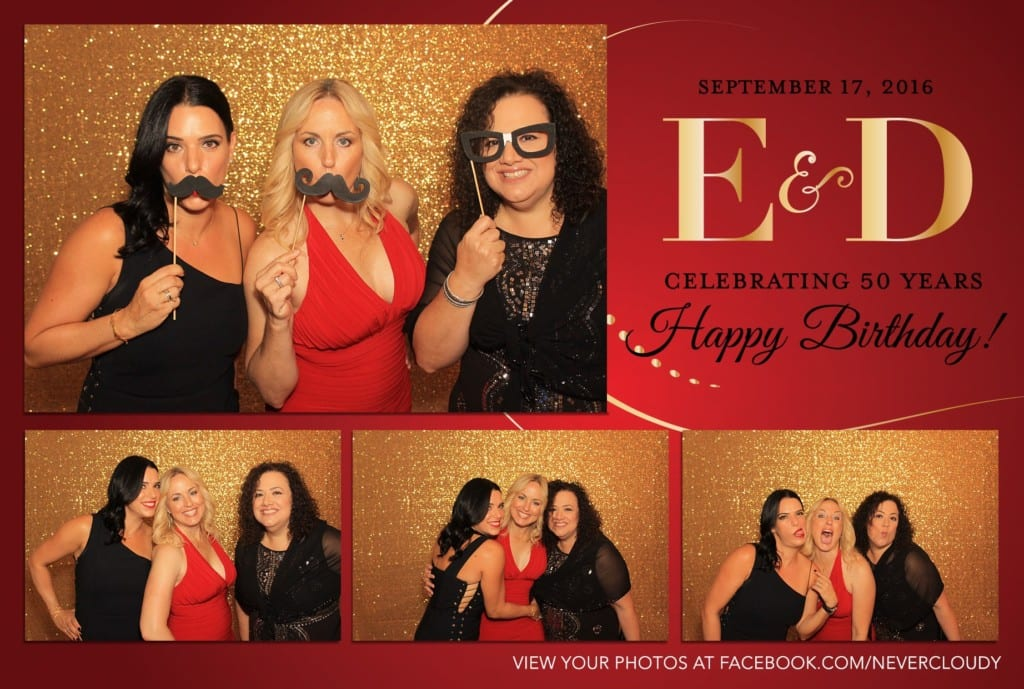 50th birthday photobooth