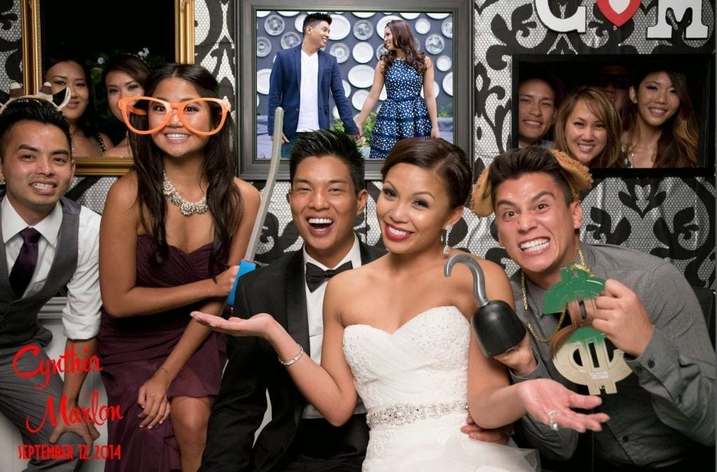 Cynthia & Marlon's Wedding Photo booth