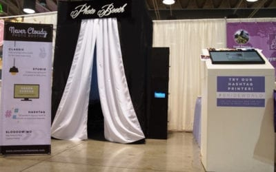Photo Booth and Hashtag Printing at Bride World Expo – Pomona Fairplex